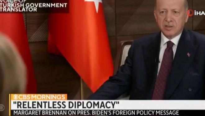 Cumhurbaşkanı Erdoğan, CBS televizyonuna konuştu