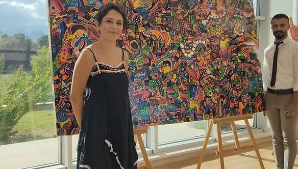 Vanlı Ressam 100 bin TL'lik tabloyu Antalya'da satışa sundu