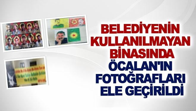 Belediyenin kullanılmayan binasında Öcalan'ın fotoğrafları ele geçirildi