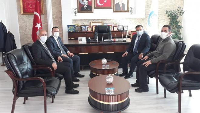 Van Büyükşehir Belediyesi heyetinden Başkan Ensari'ye ziyaret
