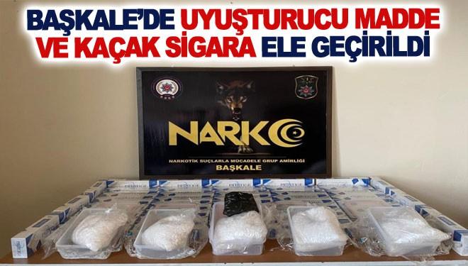 Başkale'de uyuşturucu madde ve kaçak sigara ele geçirildi