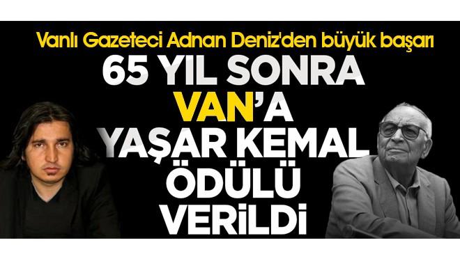 Vanlı Gazeteci Adnan Deniz'den Büyük Başarı