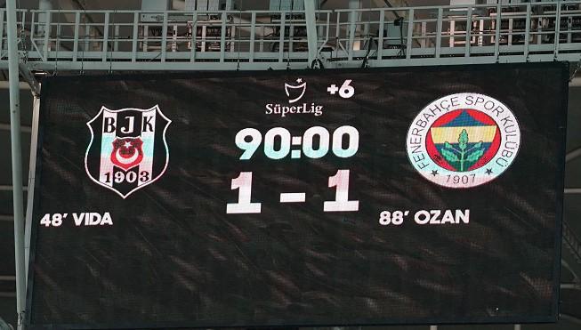 Beşiktaş 1-1 Fenerbahçe  (Çekişmeli Derbi)