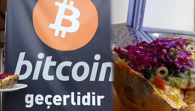 Bitcoin ile kumpir satışı başladı