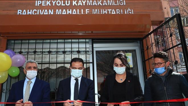 Bahçıvan Mahallesi Muhtarlık Ofisi Hizmete Açıldı