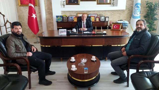 İHA Van Bölge Müdürü Akyüz'den Başkan Ensari'ye ziyaret