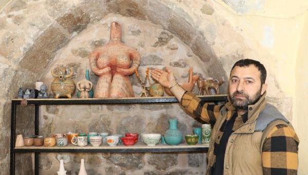 Seramik sanatçısından Kybele replikası