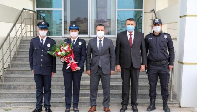 Kaymakam Türkman'dan kahraman polislere ziyaret