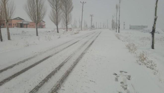 Özalp ilçesinde kar sürprizi