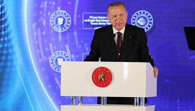Erdoğan'dan 135 milyar metreküplük gaz müjdesi