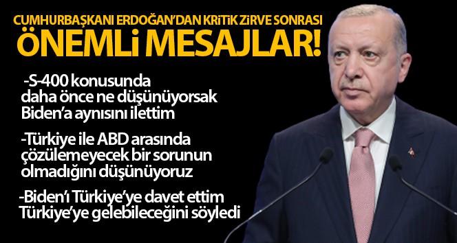 Cumhurbaşkanı Erdoğan: S-400 konusunda daha önce...
