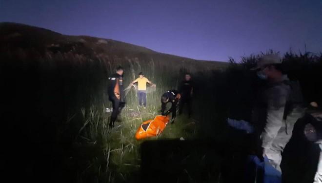 Van'da gölete düşen göçmenin