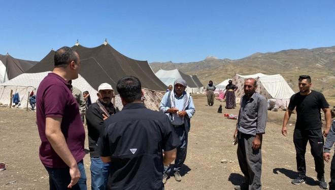 Kaymakam Akbulut'tan göçerlere ziyaret