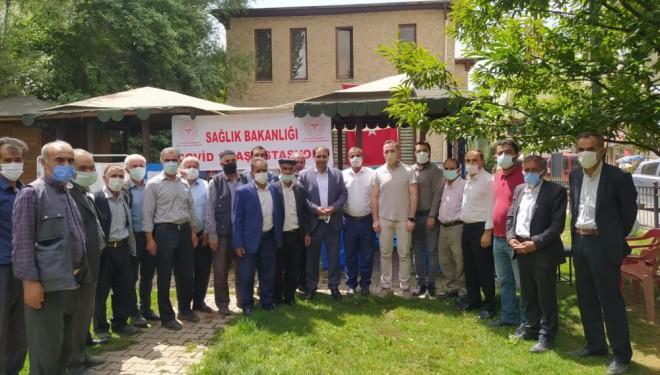 AK Parti Bahçesaray İlçe Başkanlığından aşı seferberliğine destek