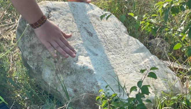 Tarlada 2 bin yıllık kitabe bulundu