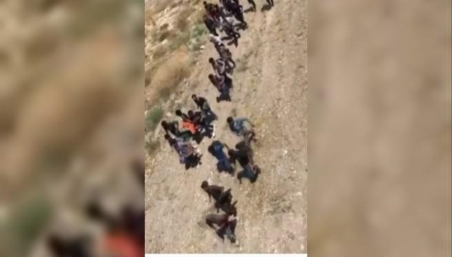 Van'da arazide yürüyerek ilerleyen 113 düzensiz göçmen yakalandı