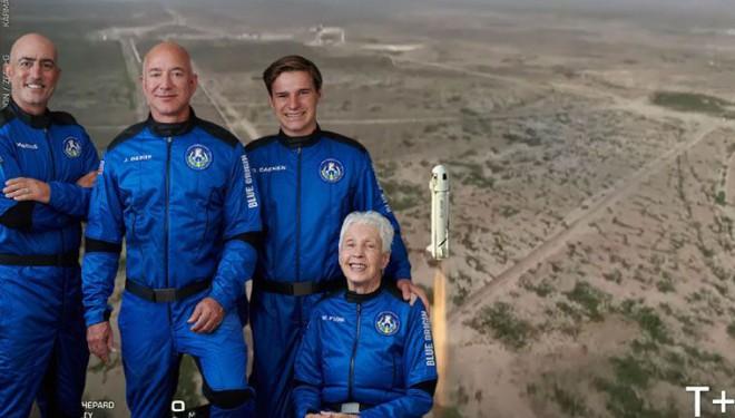 Milyarder ABD'li Jeff Bezos'un uzay aracı uzaya fırlatıldı