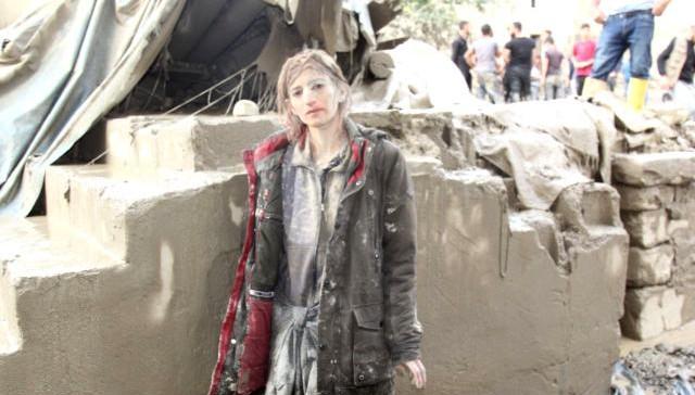 Başkale'de sel felaketinden son anda kurtarılan kadın konuştu