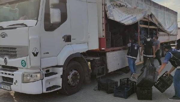 TIR'da meyve kasalarının arasından 85 düzensiz göçmen çıktı