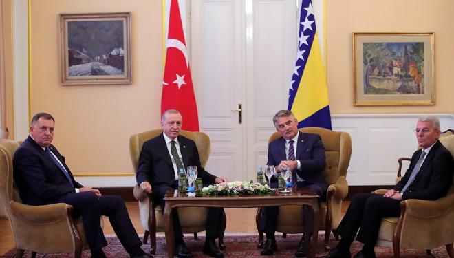 Erdoğan, Bosna Hersek Devlet Başkanlığı Konseyi üyeleriyle görüştü