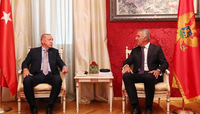 """Erdoğan: """"Karadağ'la 250 milyon dolarlık hedef koyduk"""""""
