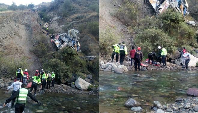 Peru'da otobüs uçuruma düştü: 29 ölü, 22 yaralı