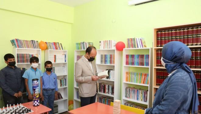 Pandemi sürecinde yapılan kütüphane hizmete açıldı