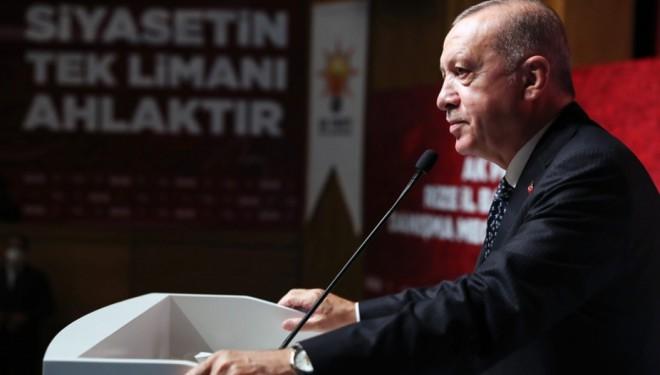 """Erdoğan: """"Büyük ve güçlü Türkiye silüeti ufukta gözükmüştür"""""""