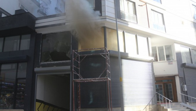 Van'da iş yeri yangını: 3 yaralı!