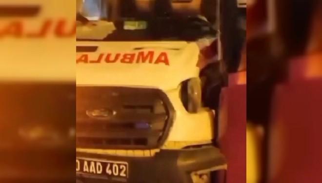 Van'da ambulans belediye otobüsü ile çarpıştı: 2 yaralı
