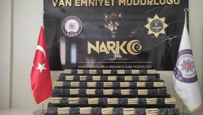 Van'da 158 kilo uyuşturucu ele geçirildi