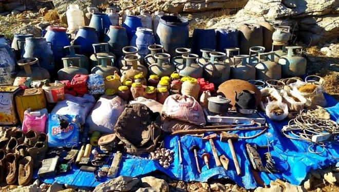 Çatak'ta çok sayıda yaşam malzemesi ele geçirildi