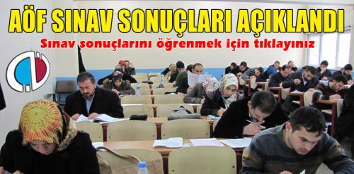 Açıköğretim sınav sonuçları açıklandı (AÖF Sınav Sonuçları)