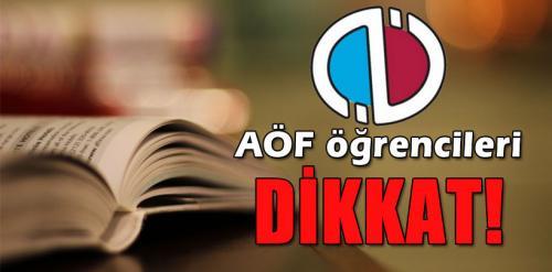 Anadolu Üniversitesi Açıköğretim Öğrencileri Dikkat!