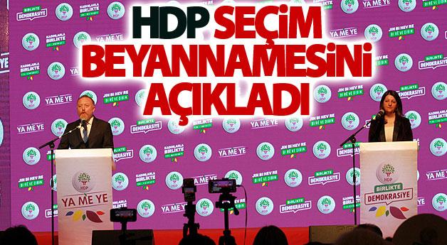HDP Seçim Beyannamesini açıkladı