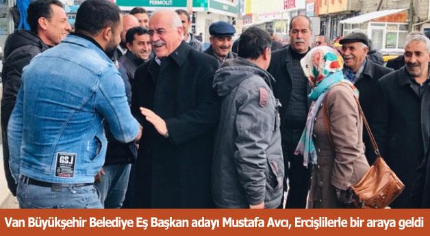 Mustafa Avcı, Ercişlilerle bir araya geldi