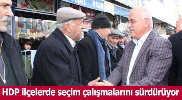 HDP ilçelerde seçim çalışmalarını sürdürüyor