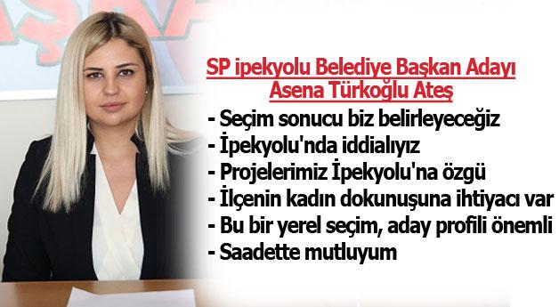 SP İpekyolu Belediye Başkan Adayı Asena Türkoğlu: İddialıyız