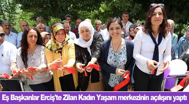 Eş Başkanlar Erciş'te Zilan Kadın Yaşam merkezinin açılışını yaptı