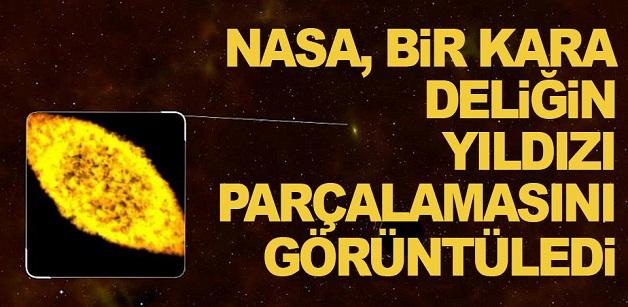 NASA bir kara deliğin yıldızı parçalamasını görüntüledi