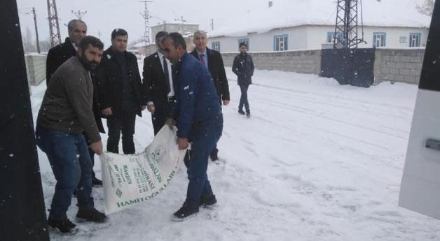Saray ilçesinden depremzedelere yardım