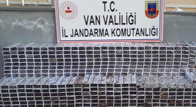 Saray'da 6 bin paket kaçak sigara ele geçirildi