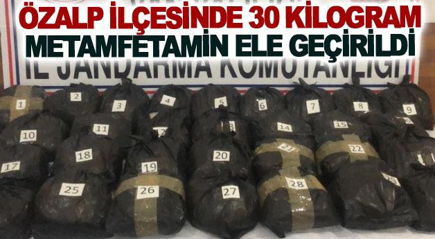 Özalp ilçesinde 30 kilogram metamfetamin ele geçirildi