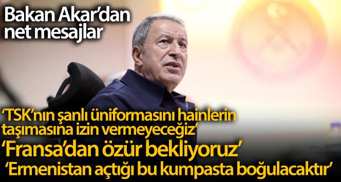 Milli Savunma Bakanı Hulusi Akar'dan net mesajlar