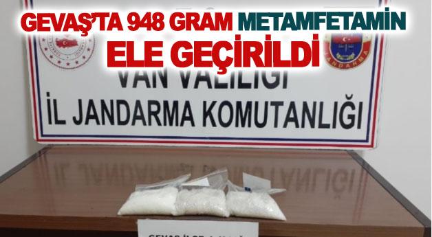 Gevaş'ta 948 gram metamfetamin ele geçirildi