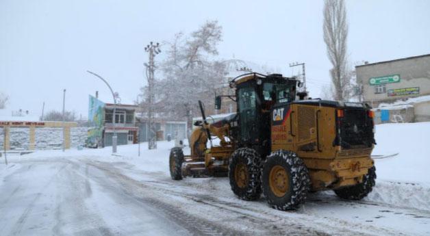 Başkale'de kar yağışı