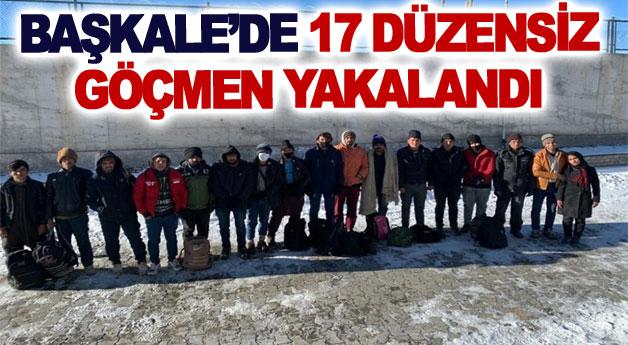 Başkale'de 17 düzensiz göçmen yakalandı