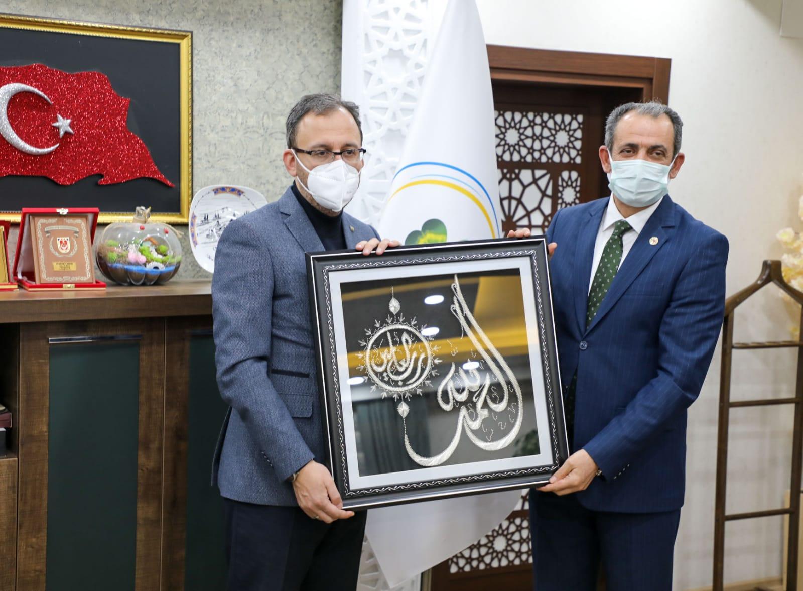Bakan Kasapoğlu'ndan Gürpınar Belediyesine ziyaret