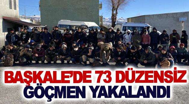 Başkale'de 73 düzensiz göçmen yakalandı