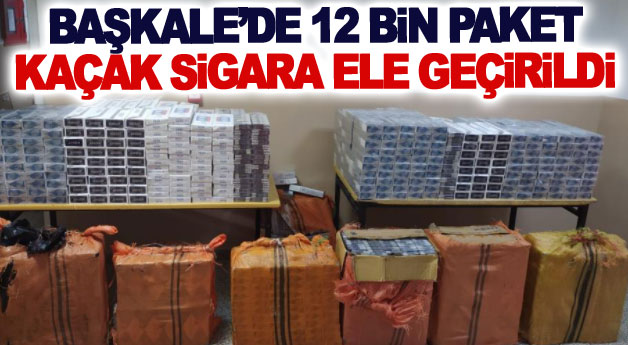 Başkale'de 12 bin paket kaçak sigara ele geçirildi